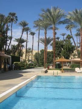 Gardens and pool, Winter Palace Hotel, Luxor