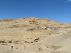 A photo of the Tombs of the Nobles, Luxor, Egypt.
