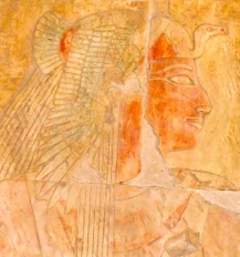Queen Ahmes, wall relief at Hatshepsut's Temple