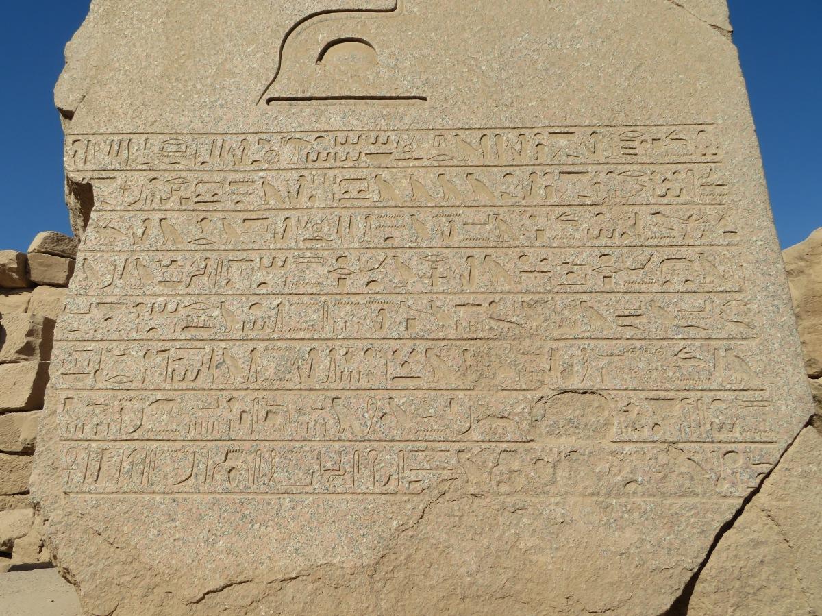 Karnak Temple, hieroglyphics