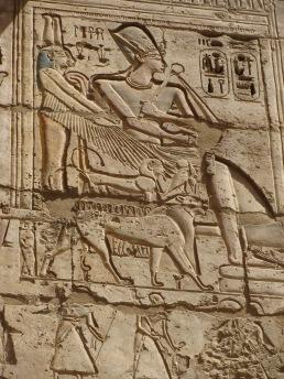 Wall carving, Medinet Habu