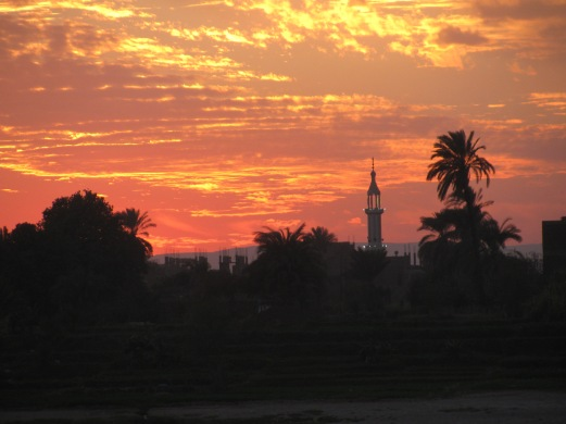 Sunset view in Egypt